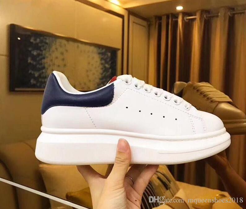 Los diseñadores de los zapatos ocasionales de la plataforma de las mujeres Negro Blanco-top Calzado Hombres Mujeres Italia Marca Pisos Chaussure Femme Homme