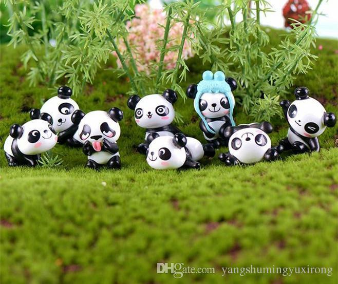 2020 Wholesale Mini Panda Figurines Fairy Garden Miniatures Statue