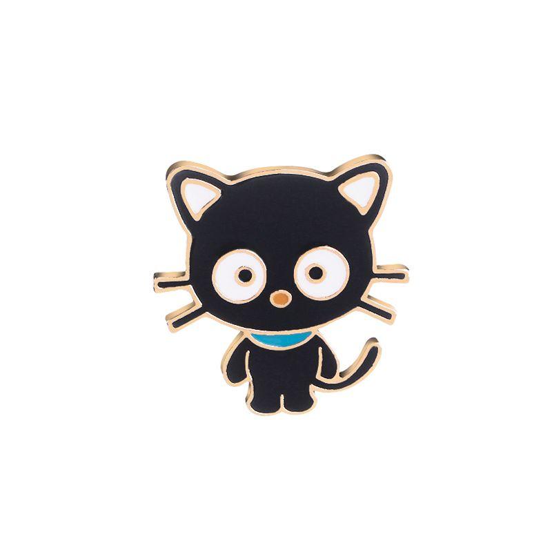 black cat pins cute cartoon enamel animal brooches metal pet pins Badge button Denim Jackets pin jeans Naughty cat jewelry
