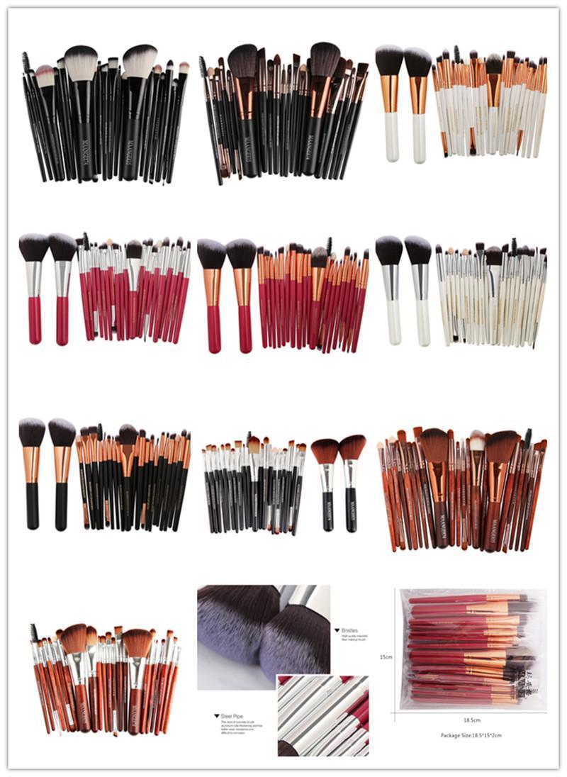 MAANGE Marka Profesyonel 22 adet Kozmetik Makyaj Fırçalar Set Allık Göz Farı Pudra Fondöten Kaş Dudak makyaj Fırça seti