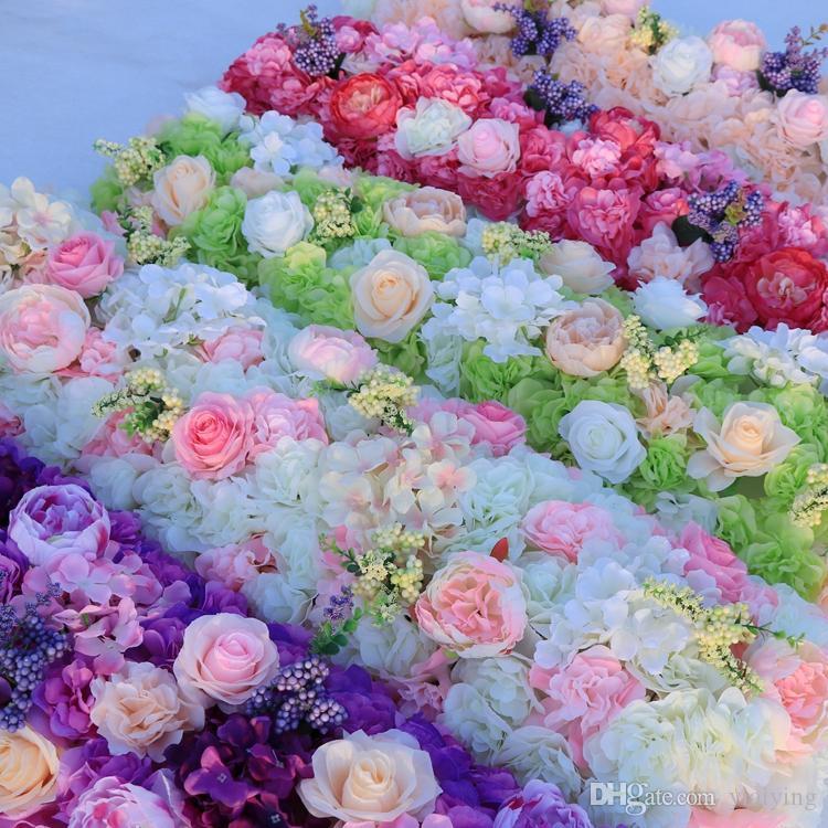 Yeni Varış Zarif Yapay Çiçek Satırlar Düğün Centerpieces Yol Alıntı Çiçek Masa Koşucu Dekorasyon Malzemeleri Ücretsiz Kargo