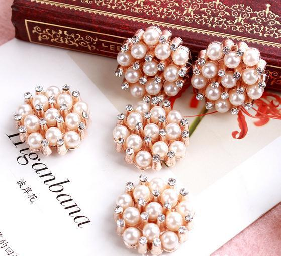 Arts,crafts & Sewing 100pcs 25*23mm Metal Buttons Crown Rhinestone Button Wedding Invitation Embellishment Scrapbooking Mobile Phone Stick Drill Home & Garden