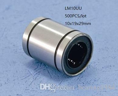500pcs/lot LM10UU linear motion bearing linear Bushing bearing for cnc couter 3D printer bearing steel(GCR15) 10mm 10x19x29mm