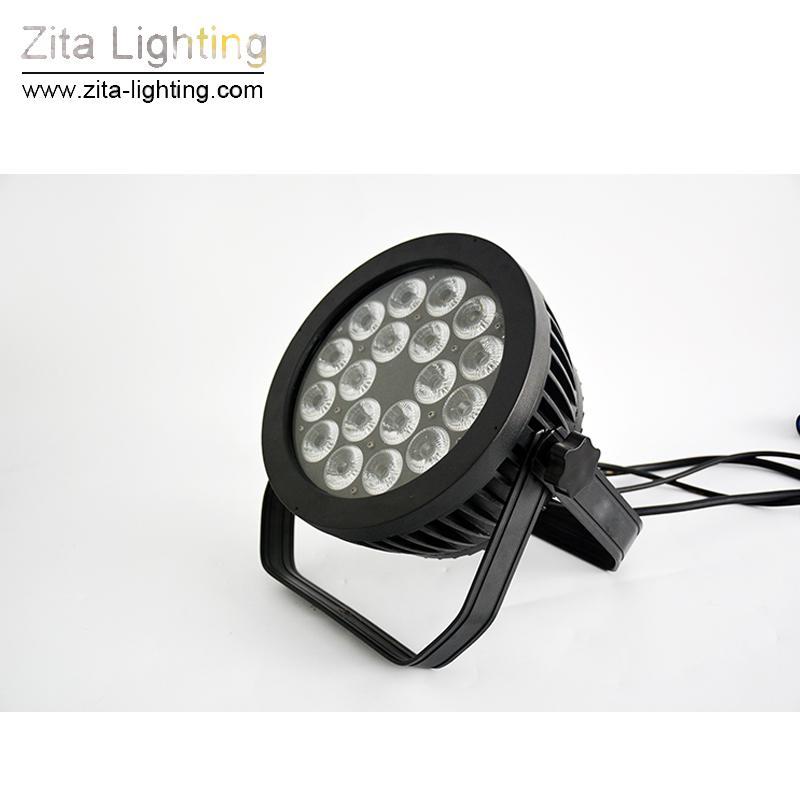 Zita Lighting LED 4IN1 5IN1 6IN1 Par Lights 18X10W RGBW Outdoor Waterproof Stage Lighting IP65 DMX512 Color Wall Washer Build Tower DJ Disco