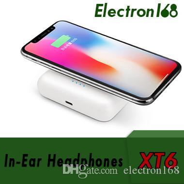 XT6 TWS 3 в 1 Bluetooth беспроводная гарнитура наушники + беспроводная зарядка + проводная зарядка powerbank для I7S I8X I9S 20шт. DHL