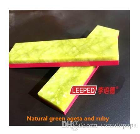 LEEPED 3000/10000 Lados Dobro Profissional Ágata Verde Natural E Afiador de facas de Rubi Pedras de Afiar Pedra de Amolar