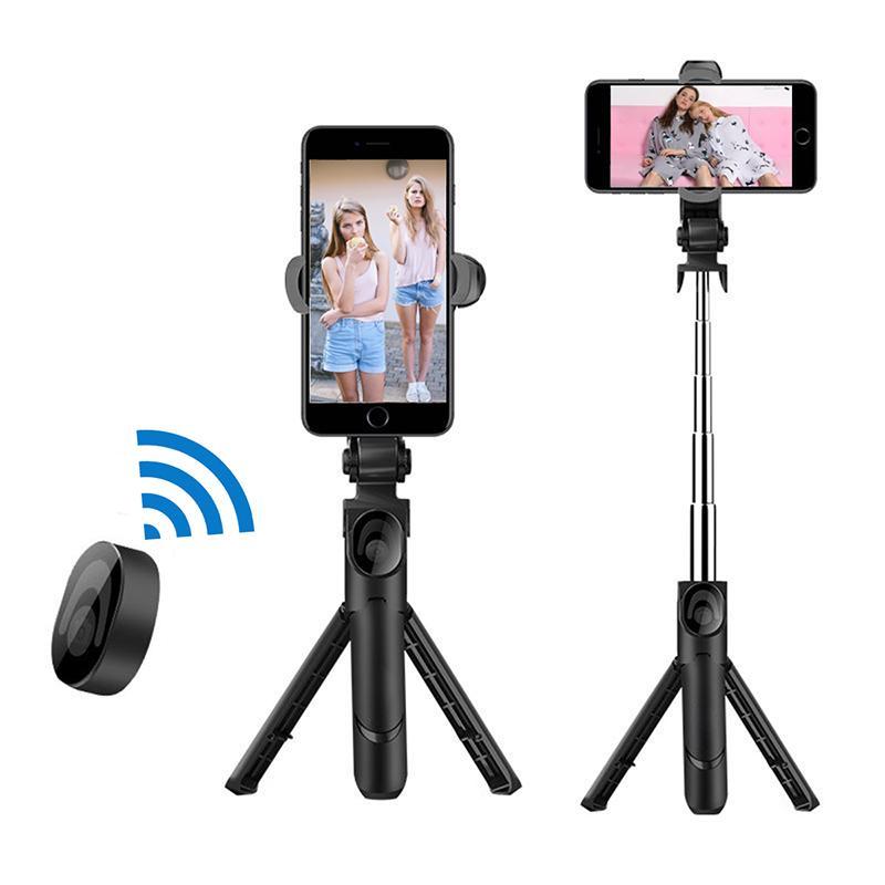 도매 휴대용 휴대 전화 홀더 스틱 블루투스 컨트롤 삼각대 마운트 아이폰 삼성에 대한 셔터 릴리스와 함께