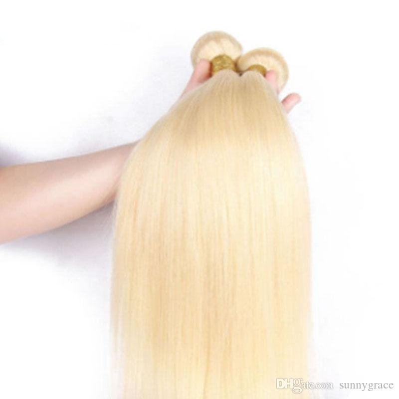 """Blonde #613 Malaysian Virgin Hair Straight 8""""-30"""" Cheap Human Hair Extensions sunny grace hair weft, made in china"""