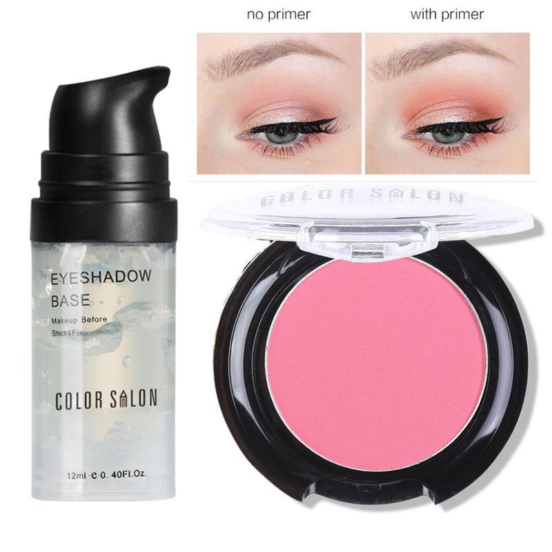 Color Salon sombra de ojos base de poros Base Natural Profesional Cosmética Sombra de ojos Paleta de larga duración 12ml * 2.7g