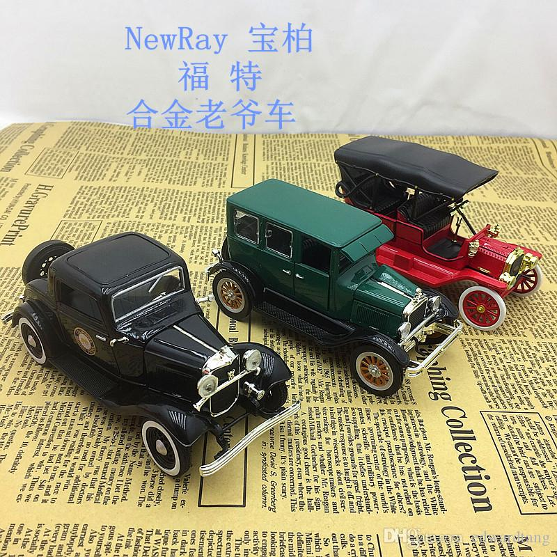 Alloy Car Model Toys, Ford Classic Vintage Car, Retro Nostalgic Art, High Simulation, Party Kid' Birthday' Gift, Collecting, Home Decoration