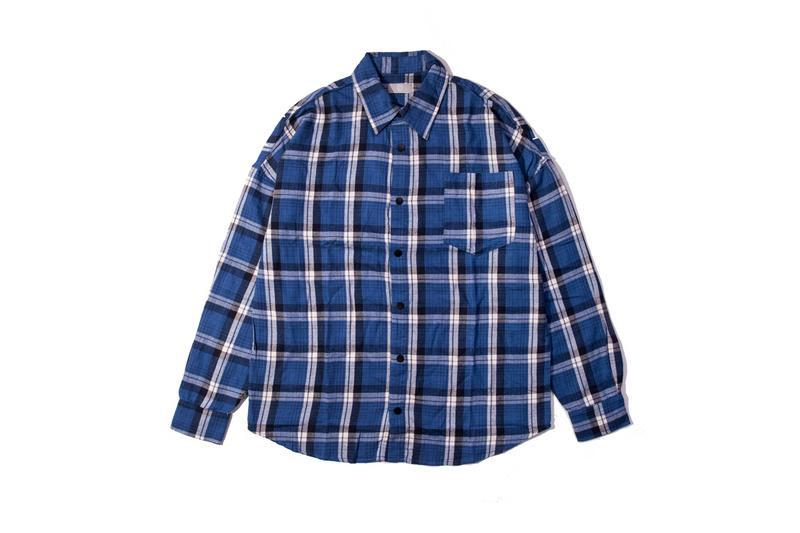 2018FW Best Version PA Logo Printed Women Men Plaid Shirts Hiphop Street Brand PA Oversized Men Casual Shirt