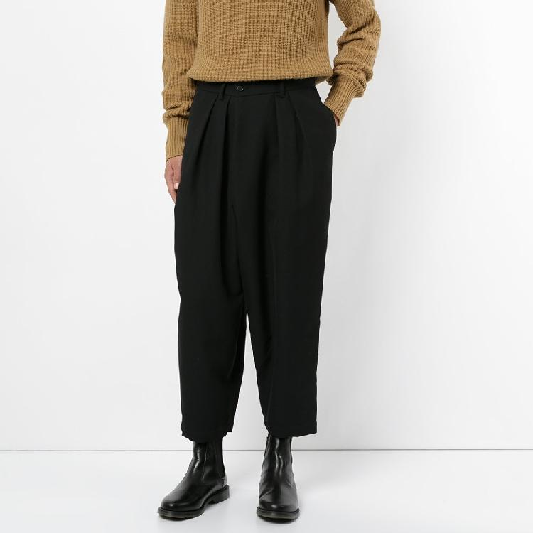27-44! Pantalons pour grands chantiers 2018 Nouveaux pantalons sarouel drapés de style euraméricain joker pantalon à neuf points tendance