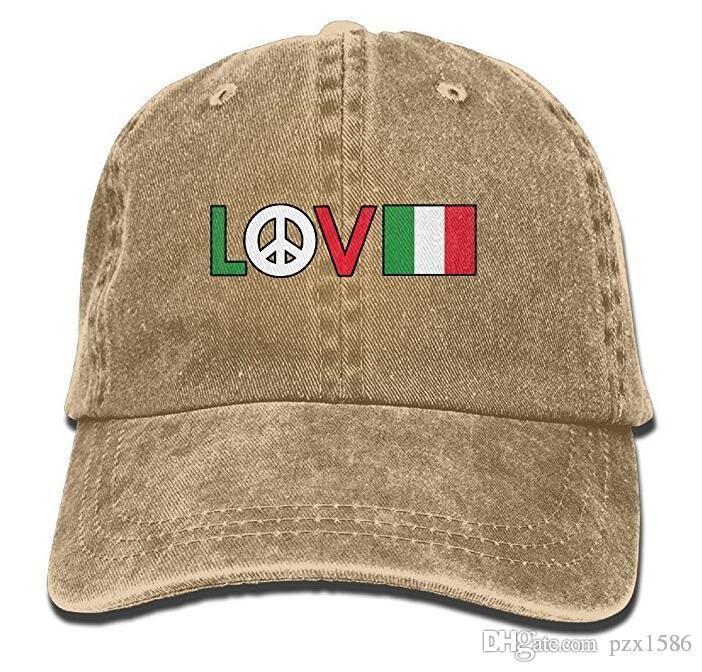 pzx @ Бейсболка для мужчин и женщин, символ мира Итальянский флаг Мужская хлопковая регулируемая джинсовая шапка с несколькими цветами по желанию