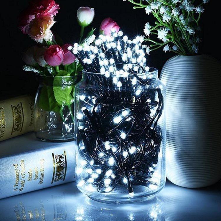 Nouveau spot 100 lampe solaire série décoration de jardin Noël LED chaîne ornement Forest Garden lumières