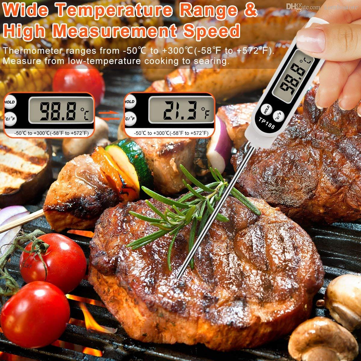 Instant Digital LCD Food BBQ Meat Chocolate Oven Cooking Probe Thermometer TR