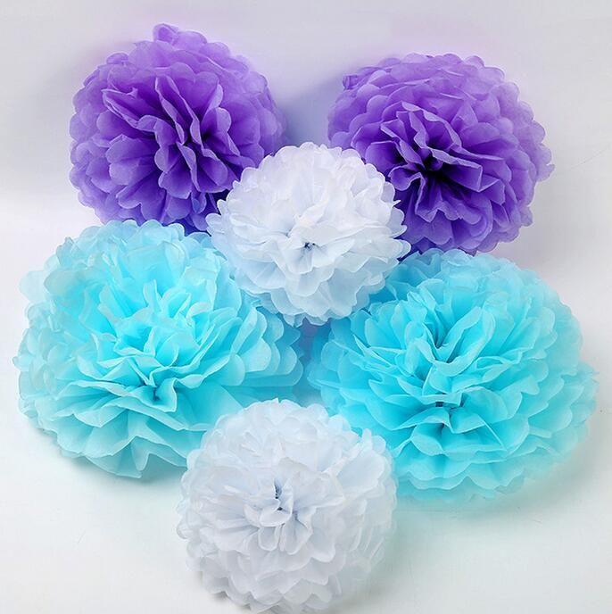 Compre Decoraciones De La Boda Flores De Papel Decoraciones De Flores Artificiales Para Pared Flores Artificiales Papel Poms Para La Fiesta Decoratio