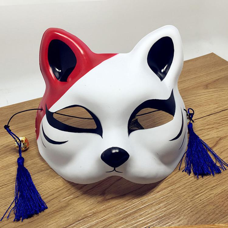 E vento COS half-face cat Full face cat maschera facciale anime fox nere Cat maschera da ballo cosplay