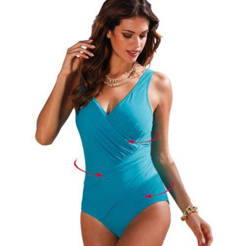 2018 New One Piece Swimsuit Women Plus Size Swimwear Retro Vintage Bathing Suits Beachwear Print Swim Wear Monokini 4XL