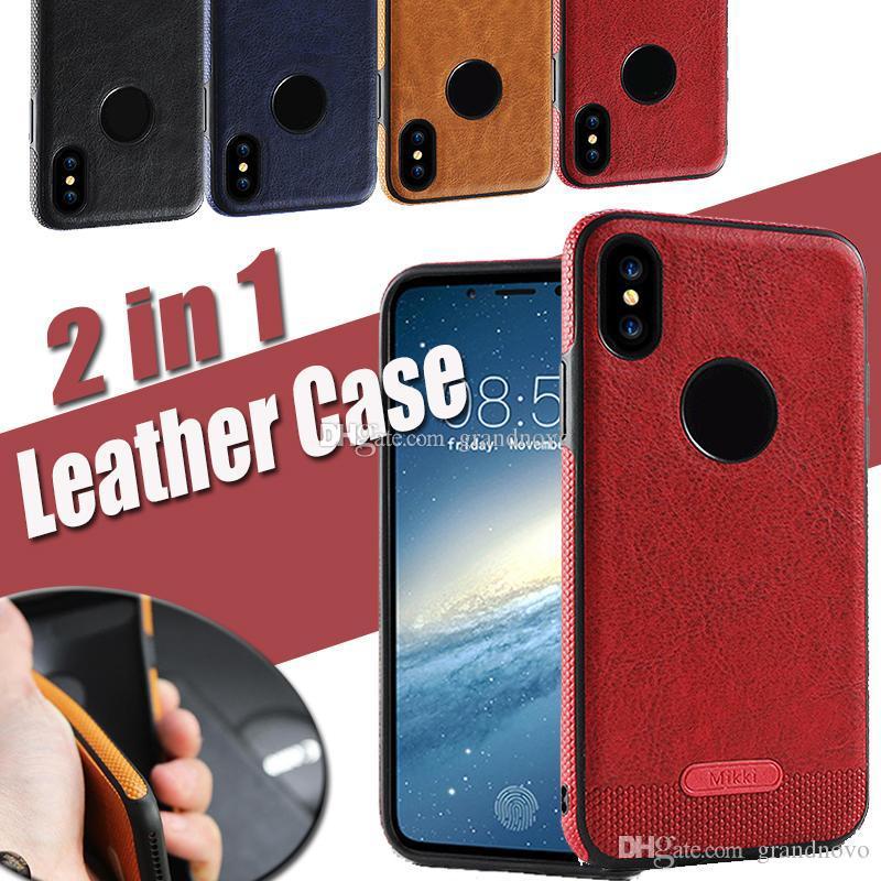 Affari cuciture in pelle di protezione anti-caduta morbida iPhone antiurto copertura di caso per 11 Pro Max XS XR X 8 7 6 Plus Samsung Galaxy S10 E S9