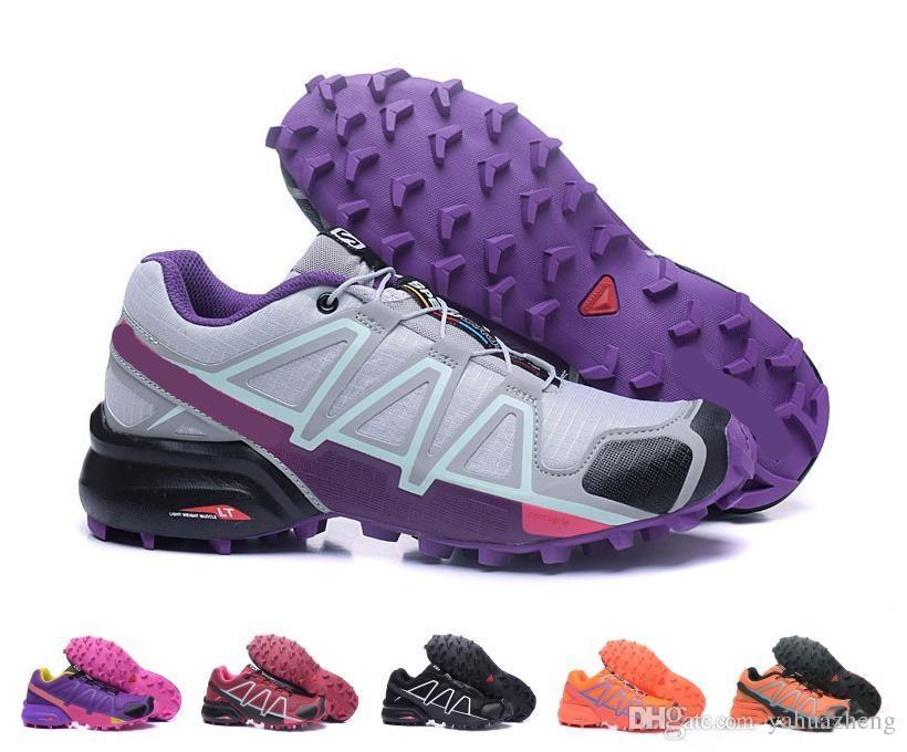 Venta al por mayor 2018 de alta calidad Zapatillas Speedcross 3 4 zapatillas de deporte mujeres caminando deporte al aire libre velocidad cruz zapatillas zapatos zapatilla tamaño 36-41 Salomon