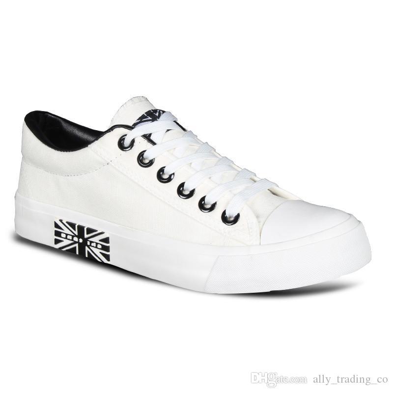 New Classic Herren Canvas Outdoor Travel Herrenschuhe Student Niedrig atmungsaktiv Korean Leisure White Schuhe Fashion Wild Black Schuhe
