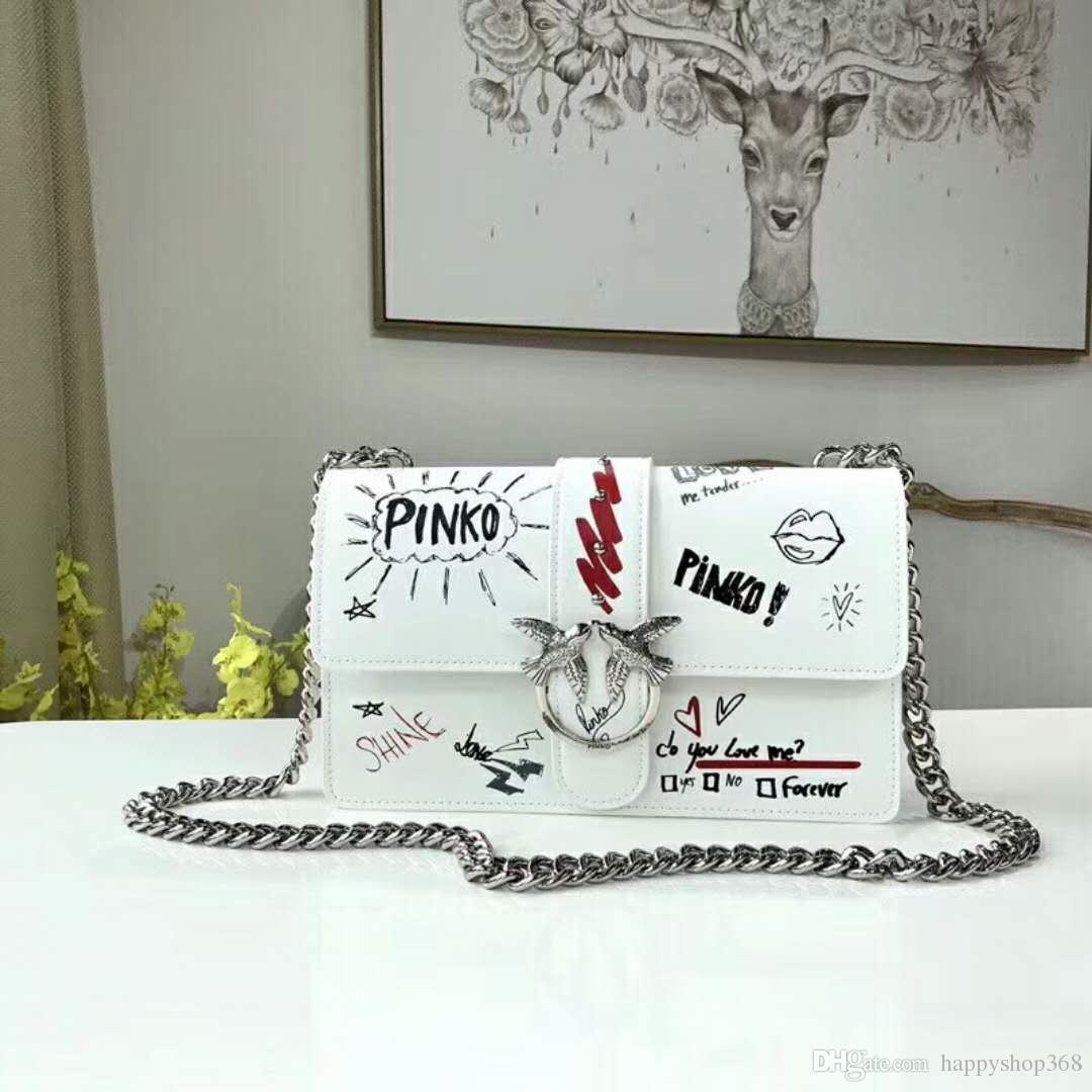 2018 moda Messenger çanta kadın çantası yutmak paketi Denim çanta deri zincir omuz çantası Yüksek kaliteli dana 03-27 cm