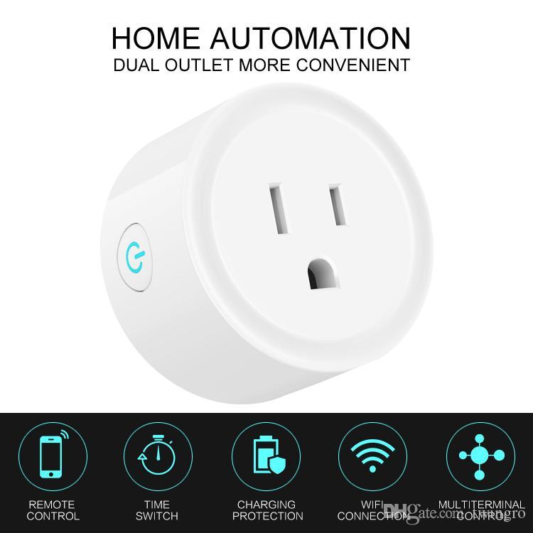 Mini Wi-Fi Smart Plug Wall Socket Google Homekit Switch Wemo Treasure Truck Timing Control Electric Devices Work with Amazon Alexa Assistant