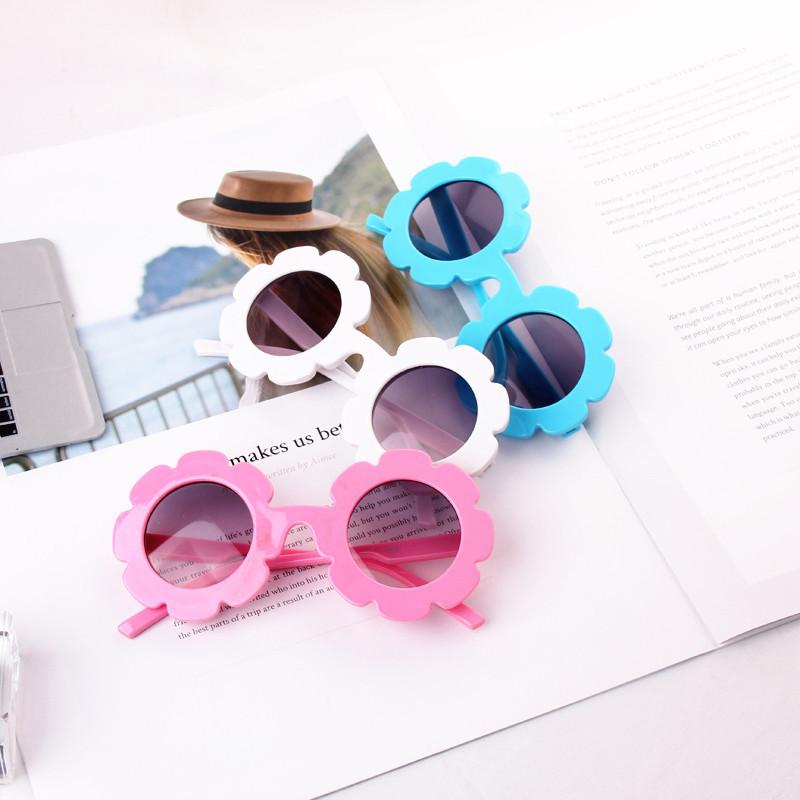Großhandel 2017 NEU angekommen Sun Blume Runde Nette Kinder Sonnenbrille UV400 Boygirl Schöne Baby Brille Kinder Oculos de sol N554