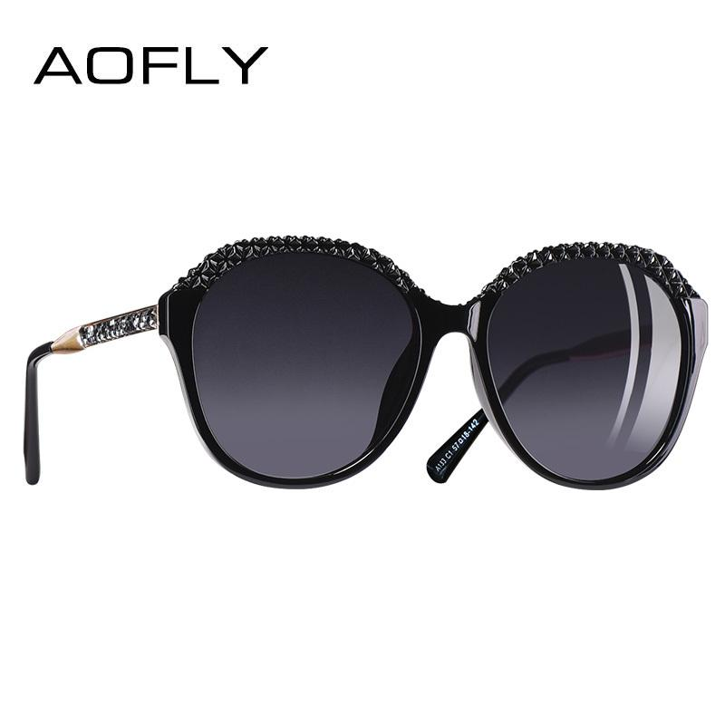 X907 AOFLY BRAND DESIGN Gafas de sol polarizadas Mujeres Gafas graduadas para mujeres 2018 Gafas moda UV400 A133