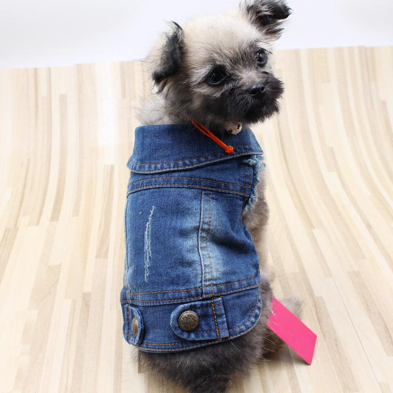 Dog clothes Teddy VIP Bichon retro scratch pattern cowboy vest personality vest Clothes for Dog XS-2XL pet clothing Spring models