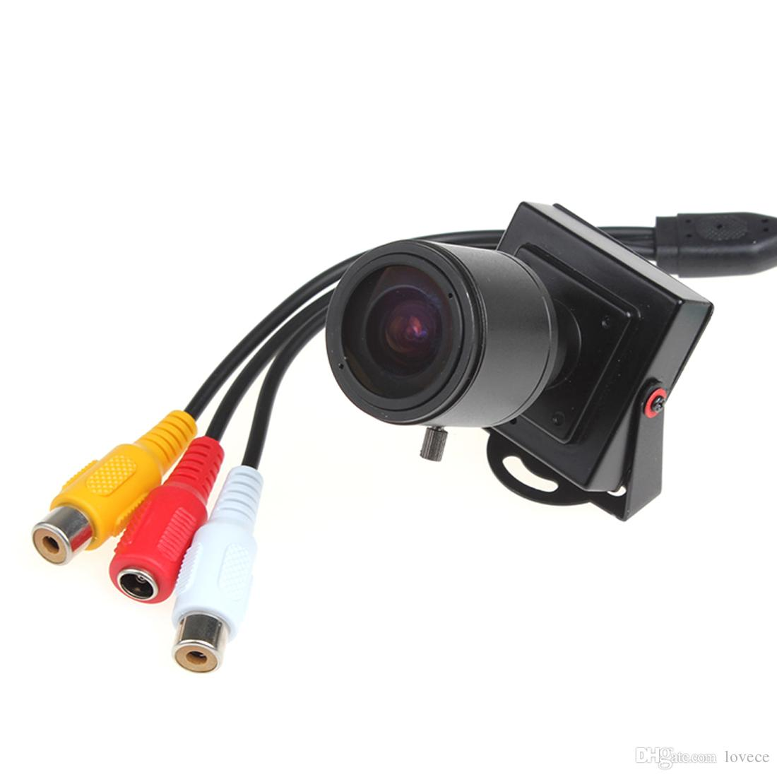 4pcs 2.8-12mm Lente Manual Mini HD 700TVL 1/3 CMOS Seguridad Audio Video Color CCTV Cámara CCT_535
