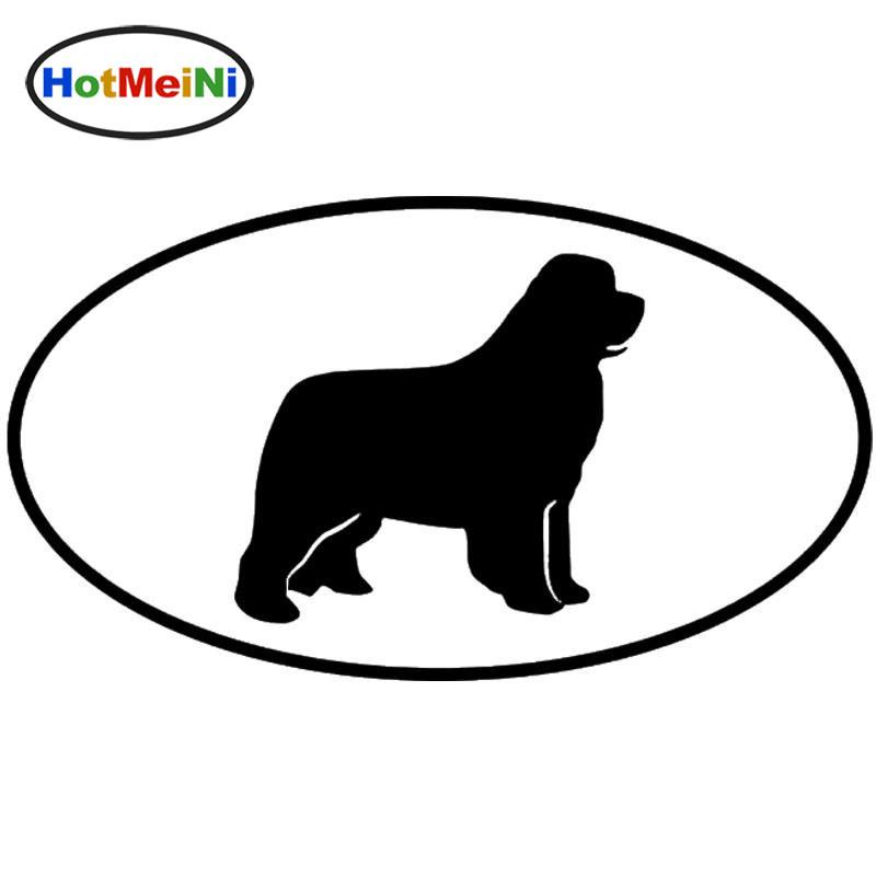 Wholesale Newfoundland Dog Car Stickers Fashion Vinyl Decal Car Styling Truck Accessories Black/Silver
