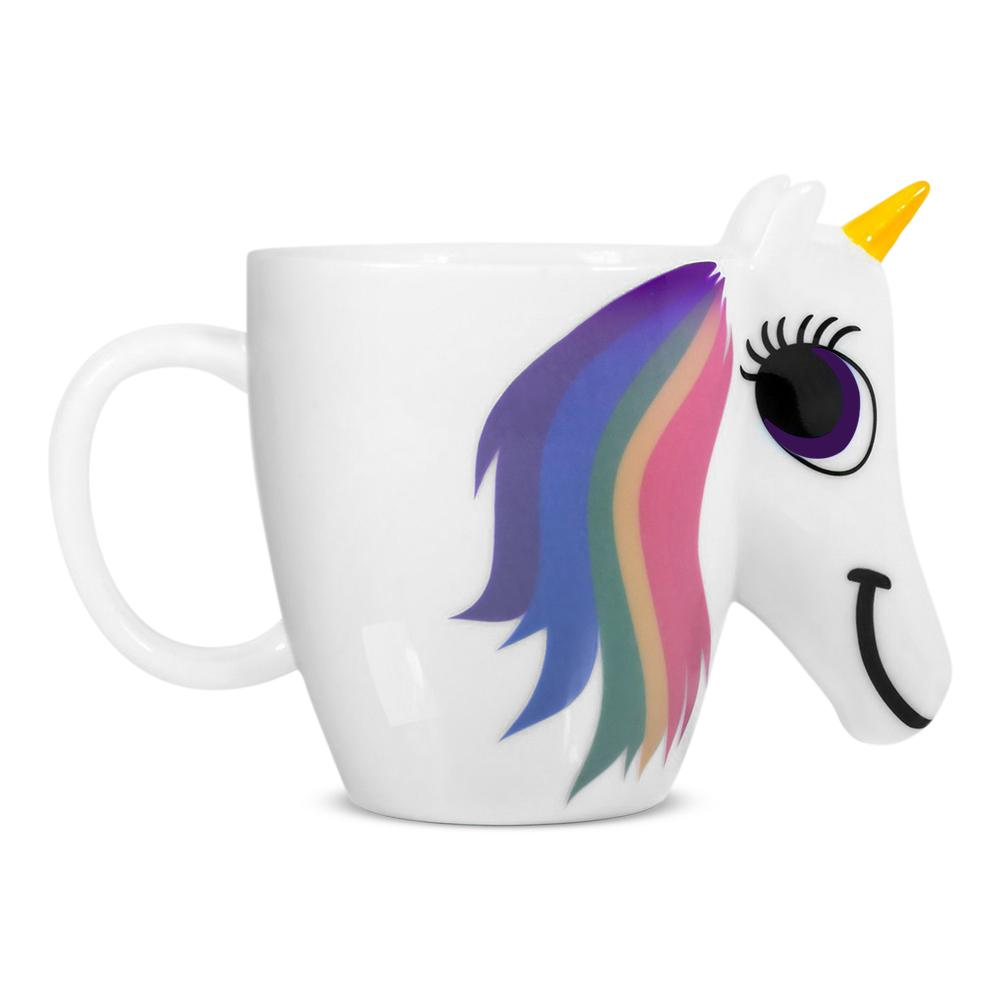 Cozzine Cartoon Unicorn Mug Unicorn Discoloration Cup 3d Ceramic Coffee Cup Creative Cute Gift Color Changing Magical Horse Cups