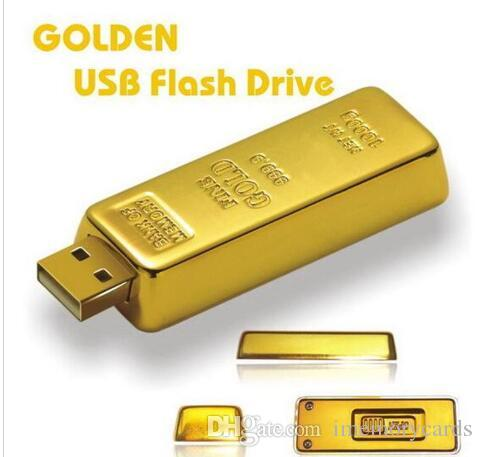 10pcs 100 % 진짜 용량 골드 바 펜 드라이브 2 기가 바이트 4 기가 바이트 8 기가 바이트 32 기가 바이트 64 기가 바이트 USB 플래시 드라이브 메모리 스틱 OPP 포장 01