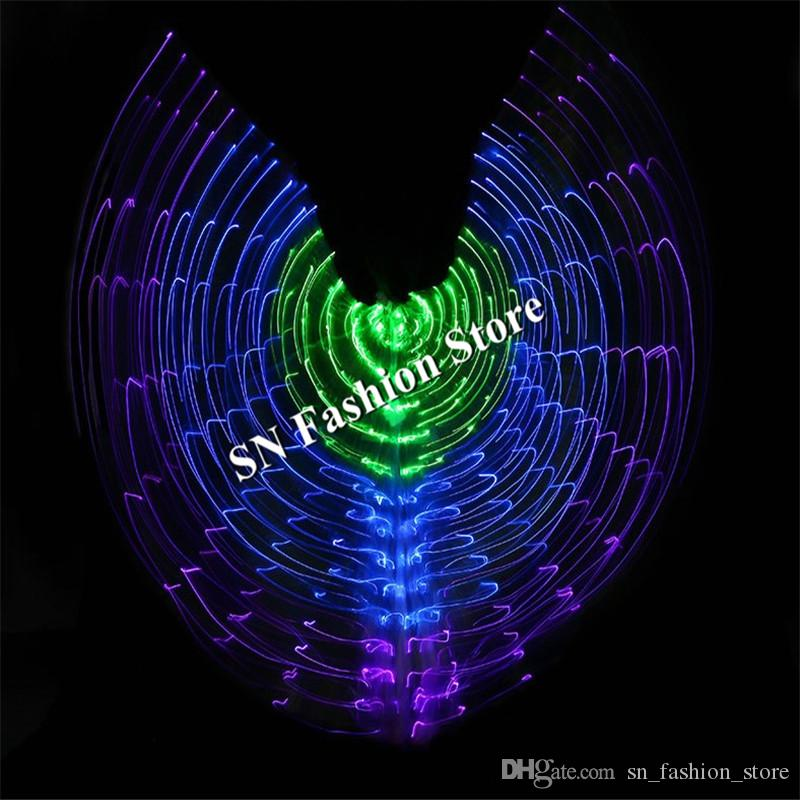 BC33 Colorful light led cloak ballroom dance led costume luminous glowing wings led stage wear dress Belly dance singer show dj performance