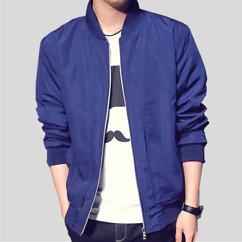 Erkekler Ceket Yeni Gelenler Sonbahar Moda Uzun Kollu Ceketler erkek Slim Fit Rahat Jaqueta Masculina Polyester Ceketler Bırak Nakliye