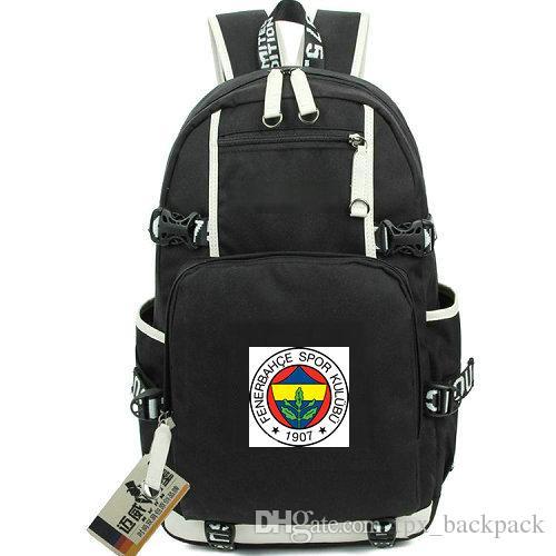 Kulubu zaino giorno Fenerbahce imballare Turchia Calcio sacchetto di scuola del club zaino packsack Calcio Sport zainetto Out porta zainetto