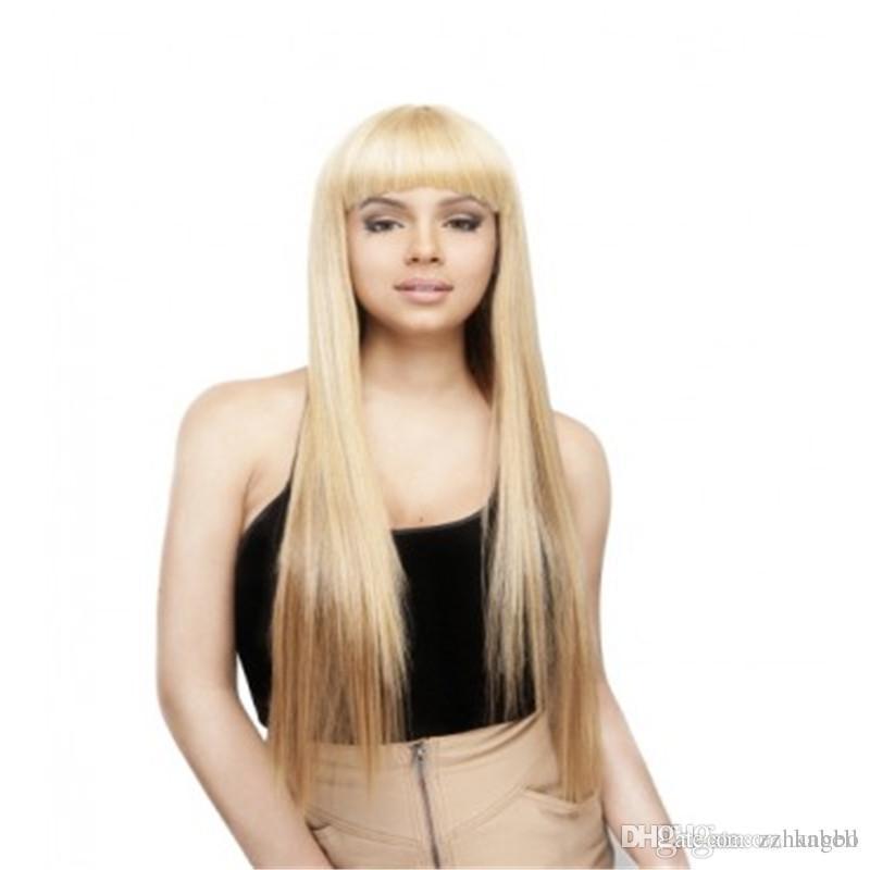 Полный шнурок человеческих волос парик Королева волос #613 бразильский Реми шелковистые прямые волосы 130% плотность чистая блондинка парик 100% ручной связали прозрачные чистые парики