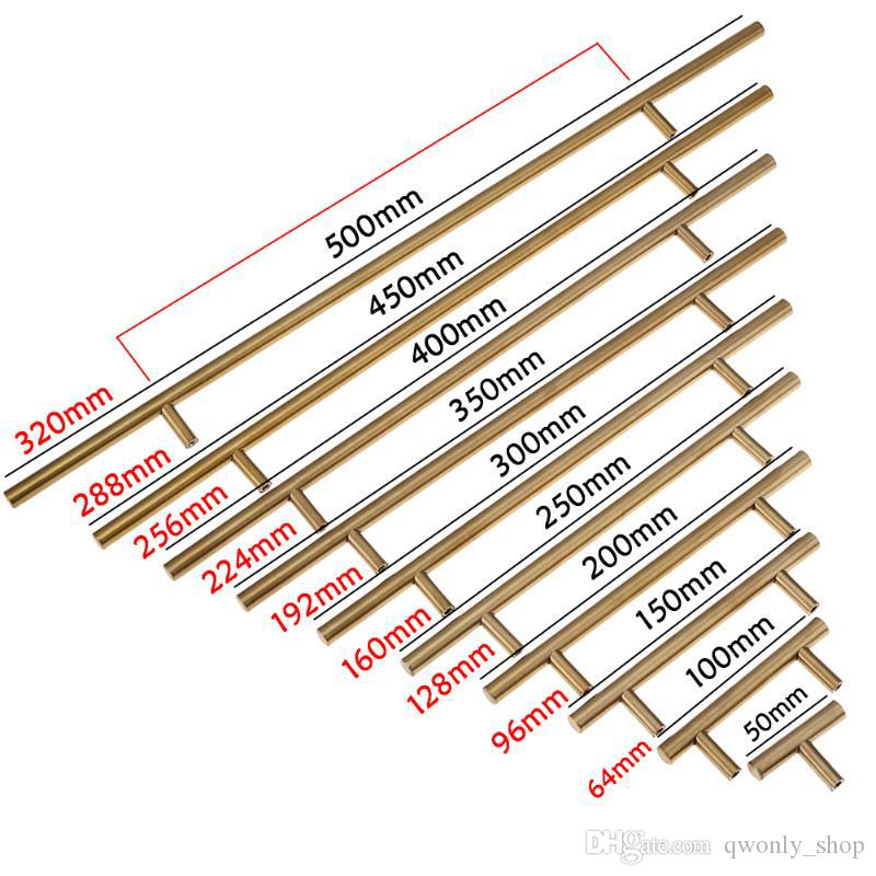 50-500mm Stainless Steel Cabinet Hardware 305 Series Bar Pulls & Knobs Furniture Antique Shell Handles Tiradores De Cajón Home Décor