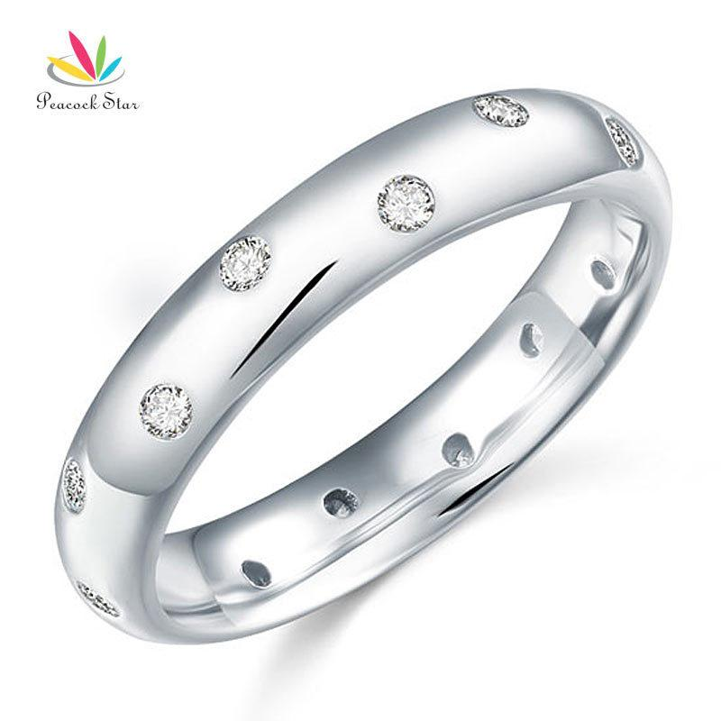 4mm Anillo de bodas anillo rodio plateado plata esterlina 925 Sello Tamaños J-R