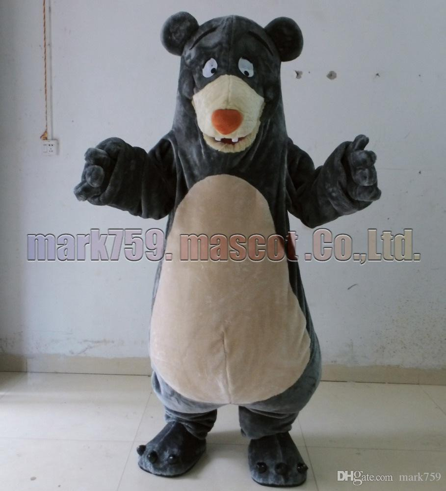 Balu urso mascote Frete Grátis Tamanho Adulto, Baru Urso mascote de pelúcia festa de carnaval de brinquedo comemora vendas da fábrica de mascote.