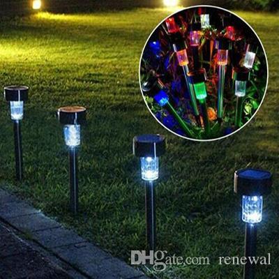 LED 태양 빛 잔디밭 빛 플라스틱 정원 야외 태양 빛 복도 램프 야외 정원 파티 램프 태양열 전원 컬러 태양 램프