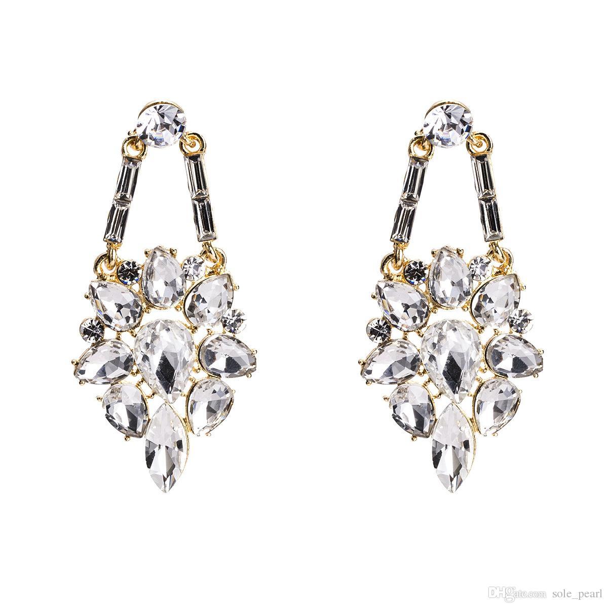 Troddel Tropfen Ohrringe für Frauen Luxus Boho Persönlichkeit Glasbohrer Baumeln Ohrringe einfach Vintage geometrische Mode Schmuck Großhandel 2018