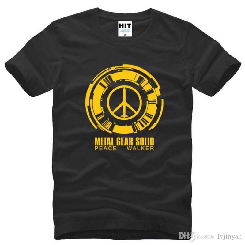 Metal Gear Solide Peace Walker Imprimé T Shirts Hommes D'été À Manches Courtes O-Neck Coton Hommes T-shirt Jeu Tee Camisetas Hombre