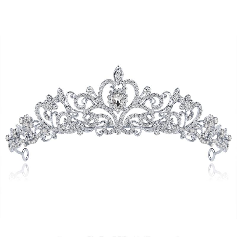 Bride Tiaras Crowns Wedding Hair Accessories Tiara Bridal Crown Wedding Tiaras for Brides Hair Ornaments W15