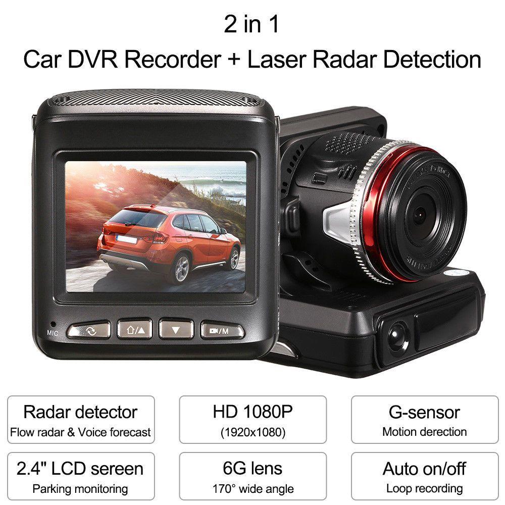 HD Car Hidden DVR Recorder Rearview Video Dash Cam Camera Laser Radar Detector