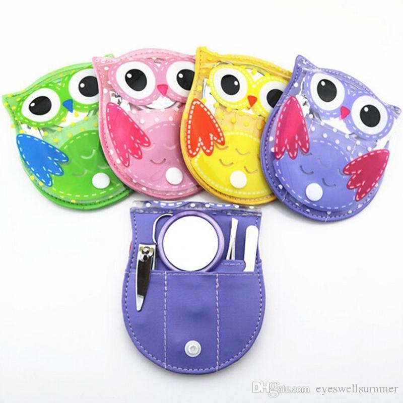 Owl Manicure Set Tijeras para uñas Archivo Clipper Ceja Pinza Trimmer Pedicure Nail Kit 5 unids / set Conveniente Nail Art Tools