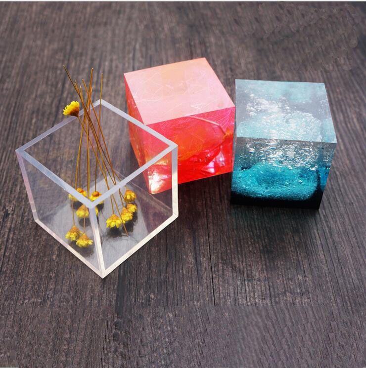 Transparente molde colgante de silicona cuadrado para resina Molde de la joyería del molde del brazalete moldes de resina para la joyería