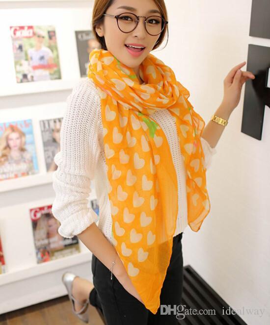 100٪ الحرير أزياء جميلة القطن وشاح جديد وصول الحب قلب الأوشحة شال للمرأة وشاح دافئ في فصل الشتاء