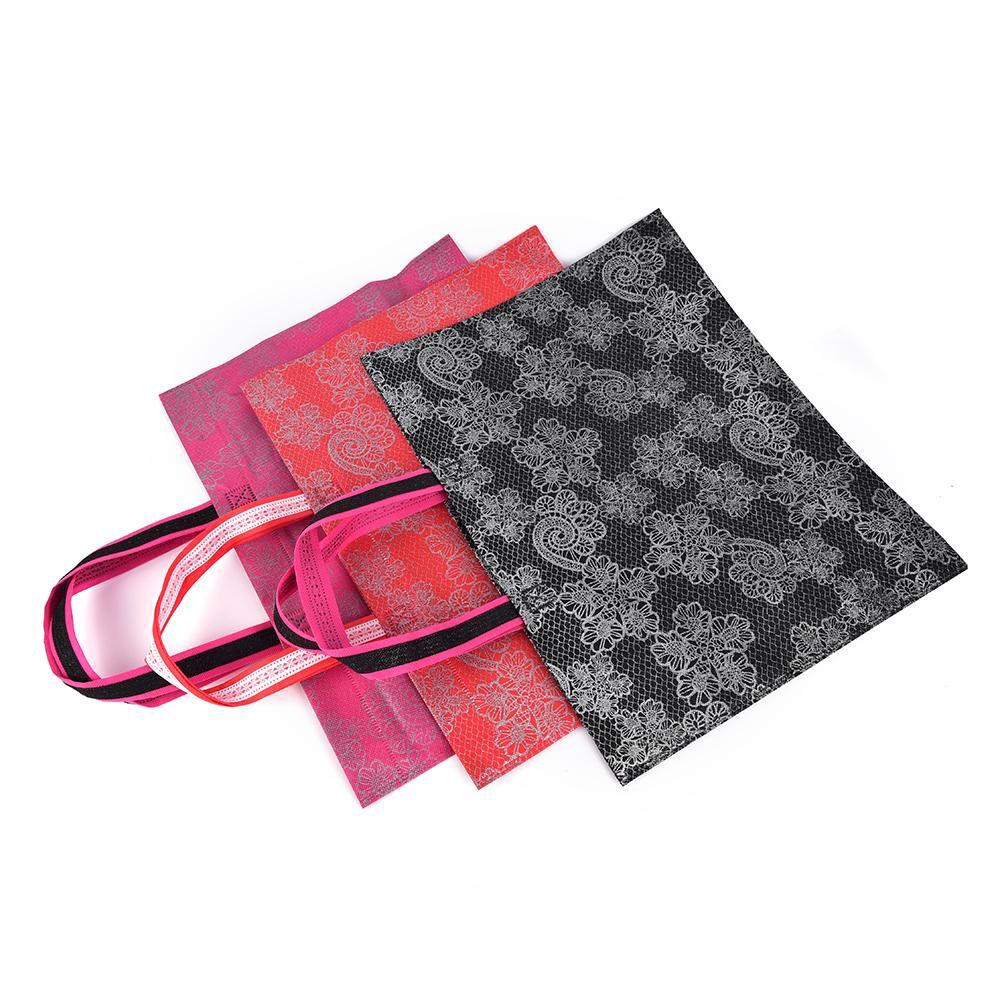 1 UNID Moda Mujeres Bolso de Compras de Color Caramelo Plegable Bolso de ultramarinos Ecológico Tote Bolsas Portátiles Reutilizables Color Al Azar